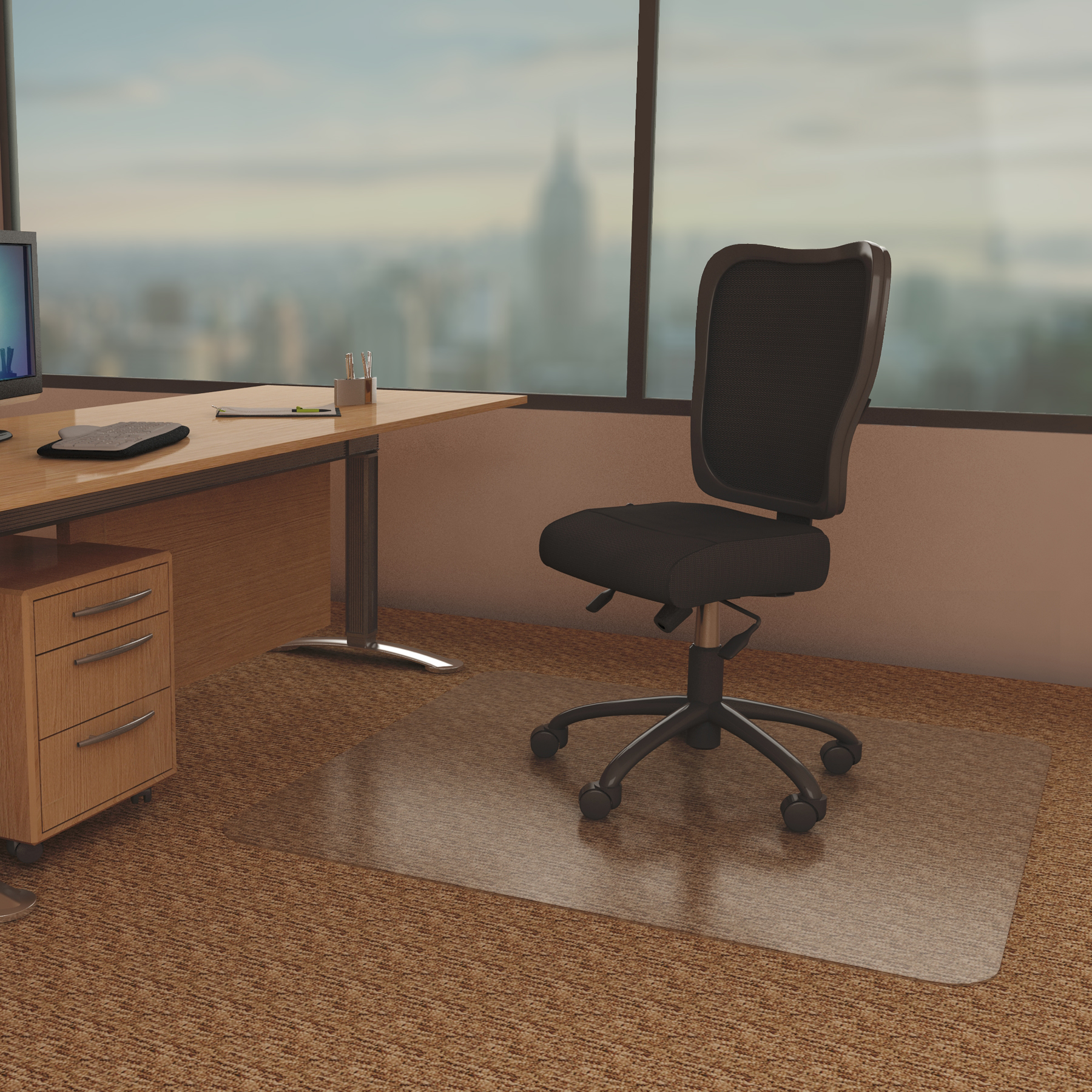 Static Mat For Office : Anchormat best chair mat for low pile carpet